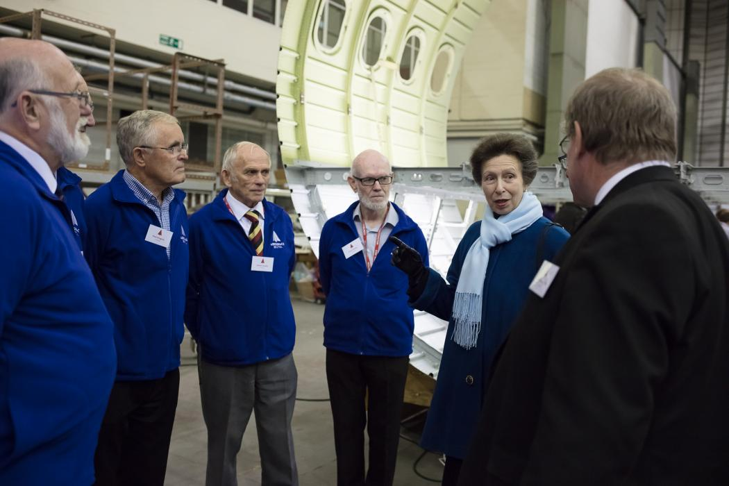 The Princess Royal visits the new home of Concorde 216, Aerospace Bristol