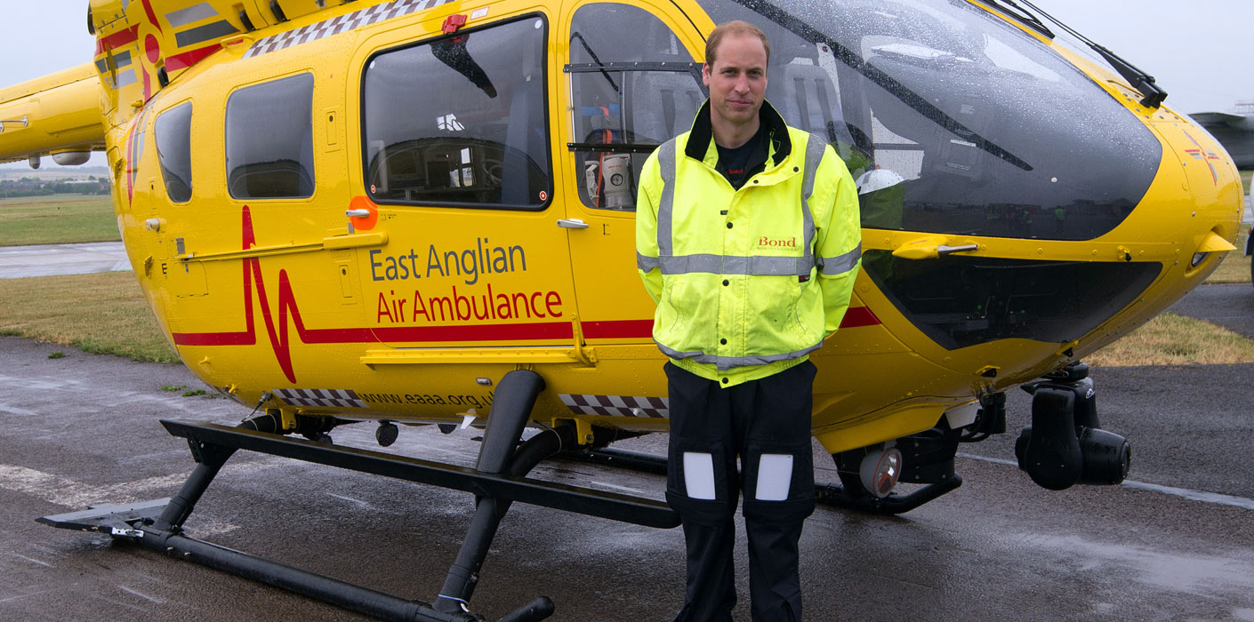 The Duke's work with East Anglia Air Ambulance