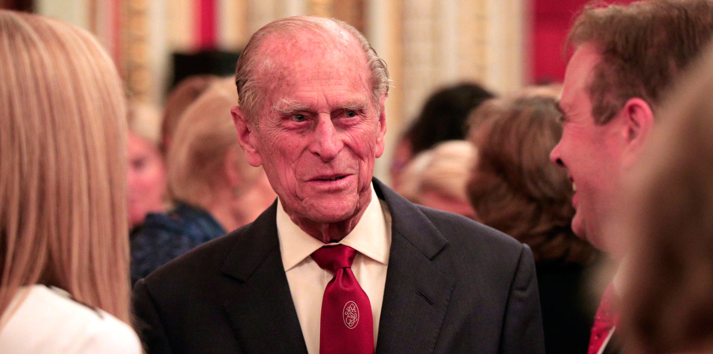 The Duke of Edinburgh meets guests at an engineering awards ceremony