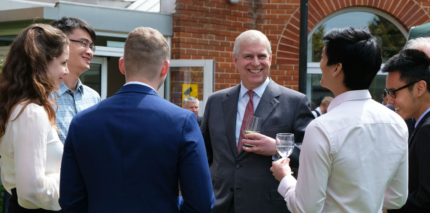The Duke of York visits Cambridge