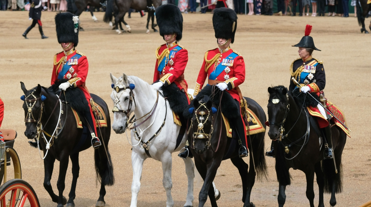 The Duke of York and members of the Royal Family ate Trooping of the Colour