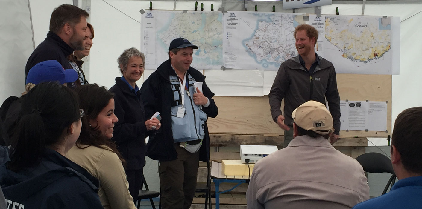 MapAction has released a video of Prince Harry visiting a humanitarian mapping team...