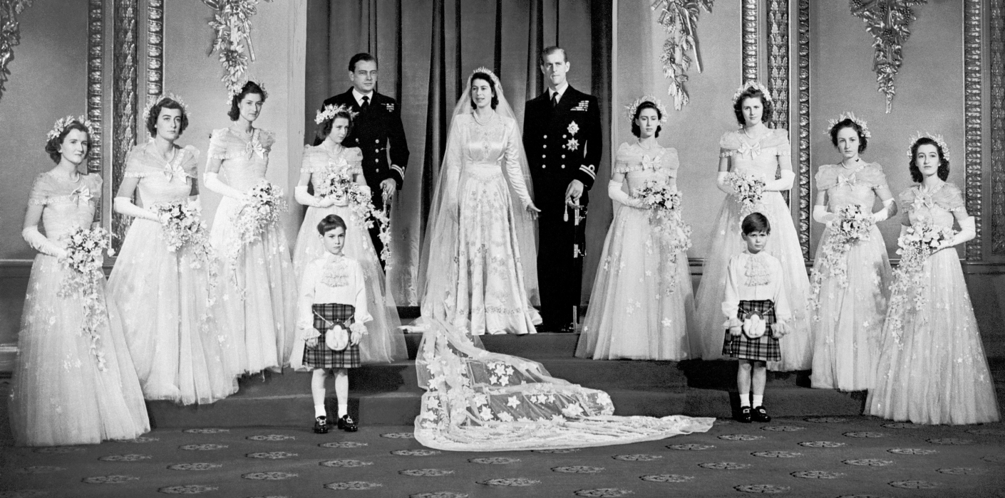 Official Portrait of The Queen and The Duke of Edinburgh's wedding in 1947