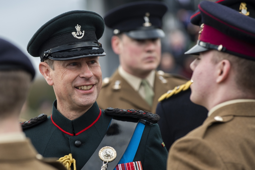 The Earl of Wessex attends Junior Soldiers' Graduation Parade