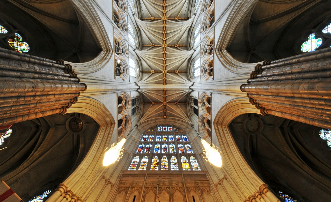 The ceiling of Westminster Abbey