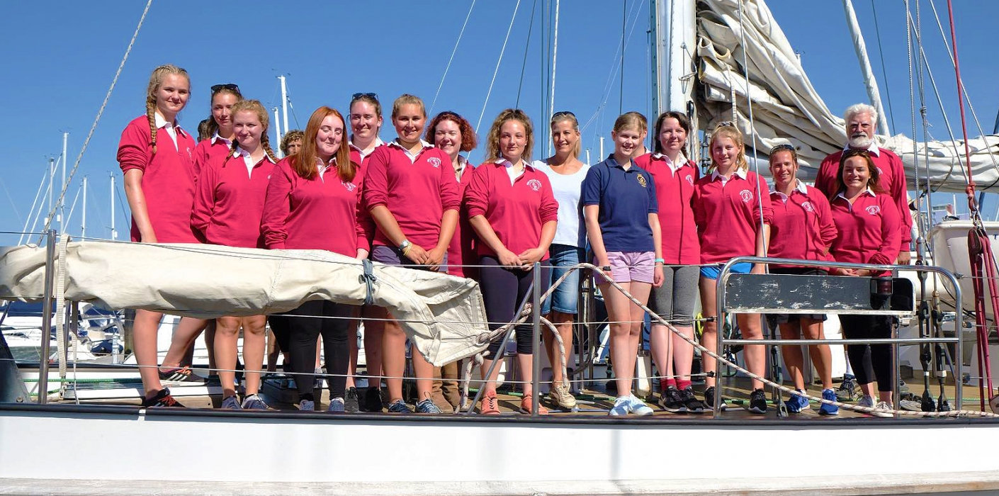 The Countess of Wessex visits a sailing training charity in the Haslar Marina