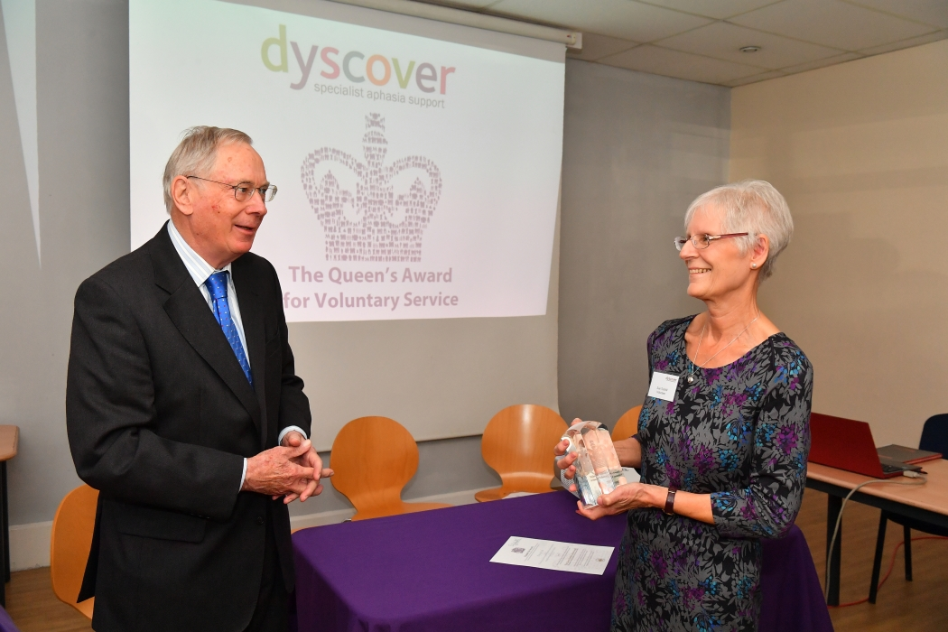 The Duke of Gloucester presents The Queen's Award for Voluntary Service in Surrey