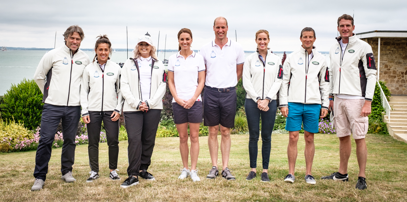 The Duke and Duchess of Cambridge with The King's Cup ambassadors
