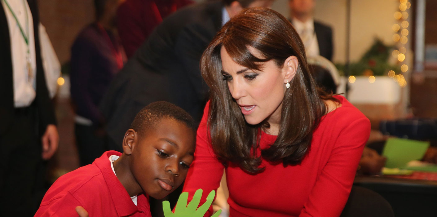 The Duchess of Cambridge with a child