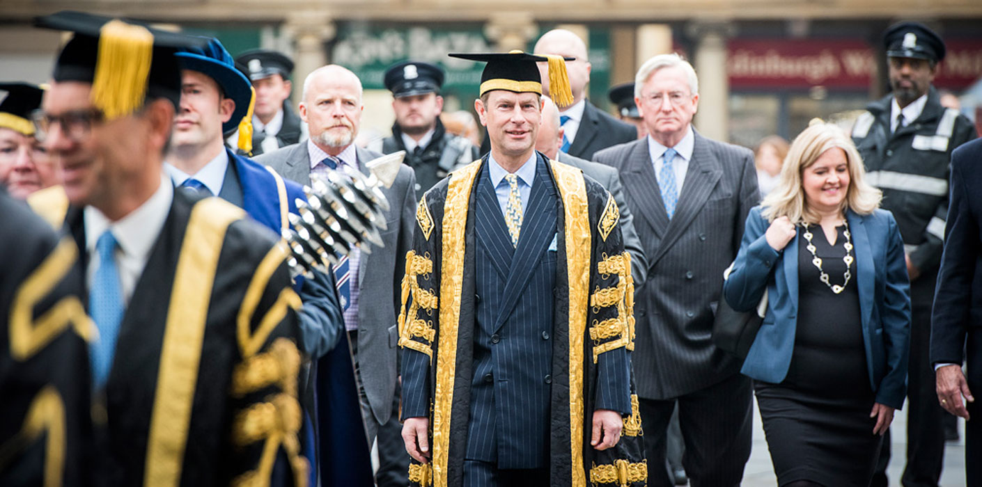The Earl of Wessex, Chancellor of the University of Bath, joins their 50th anniversary celebrations