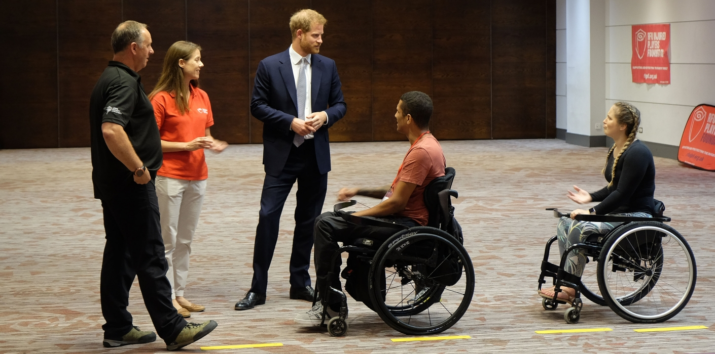 The Duke of Sussex meets injured players