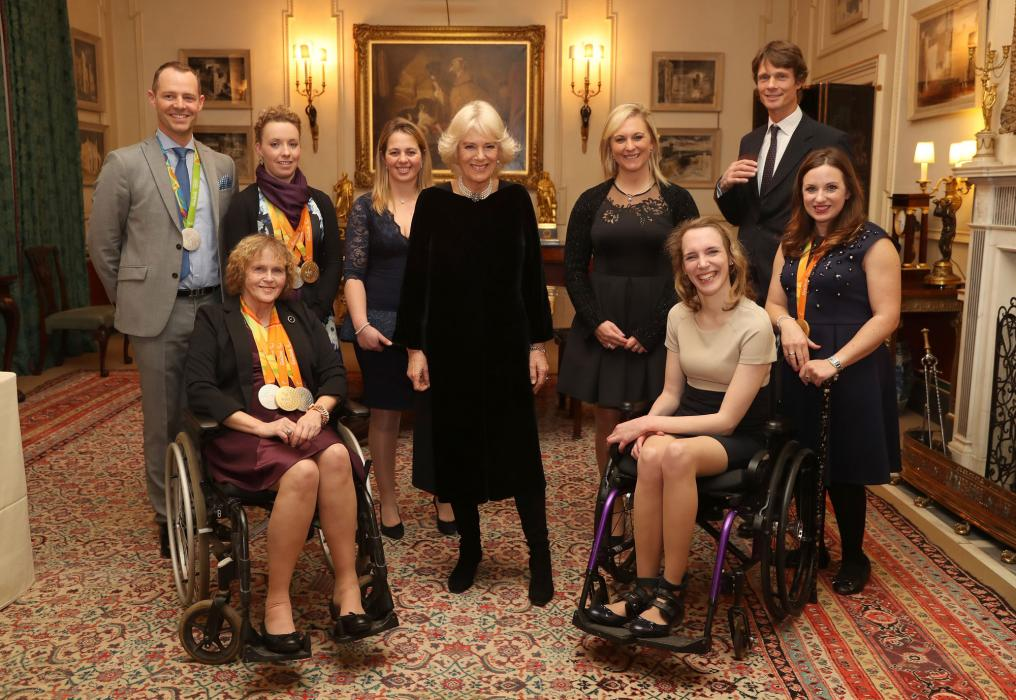 The Duchess of Cornwall with BEF athletes