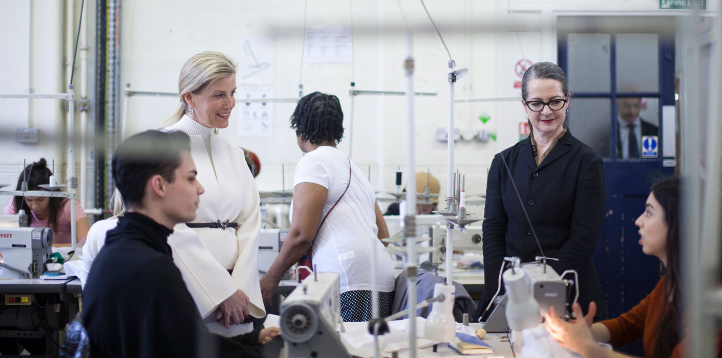 The Countess Of Wessex Visits London College Of Fashion The Royal Family