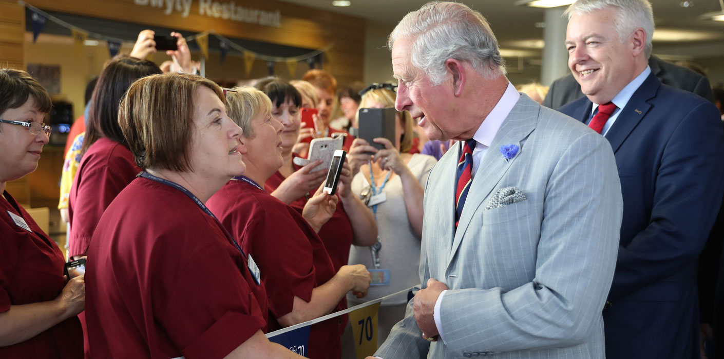 The Prince of Wales meets nurses