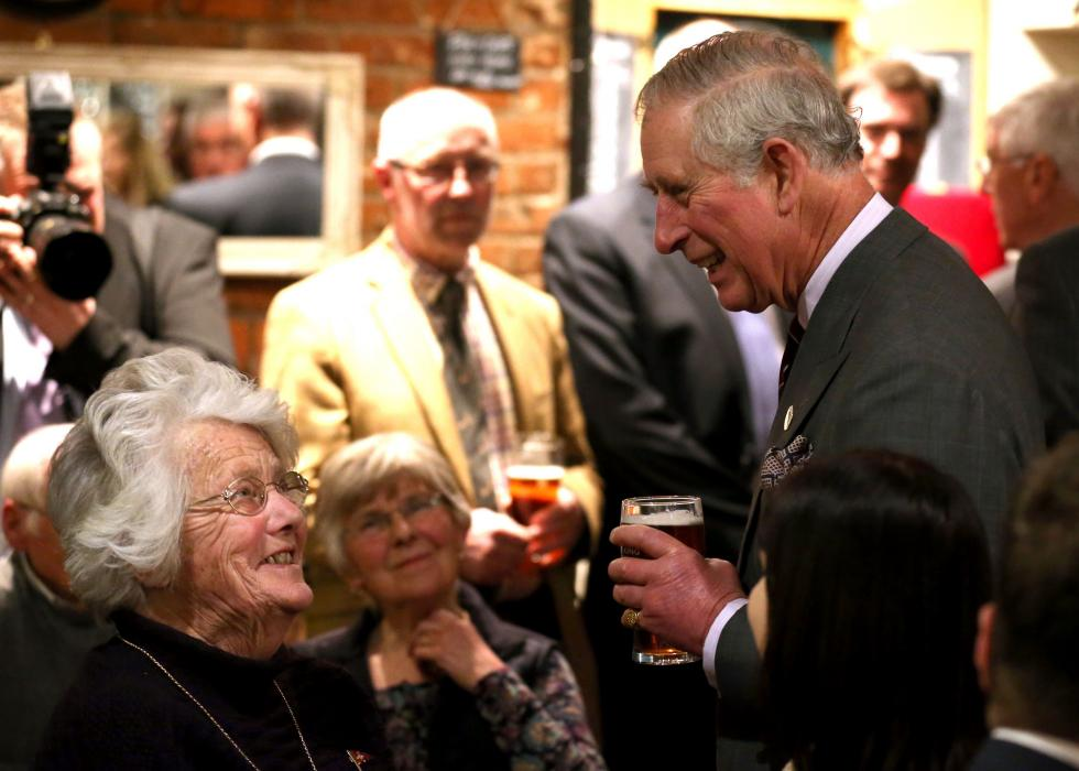 The Prince of Wales at The White Horse pub in Upton