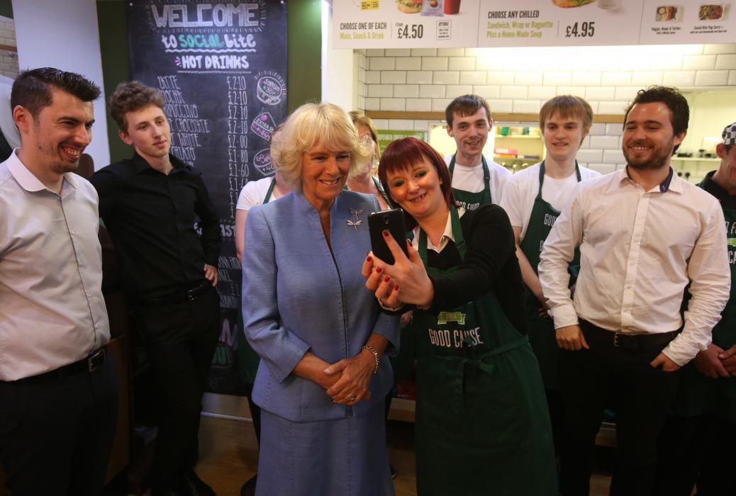 The Duchess of Rothesay visited Social Bite, a cafe in Edinburgh which feeds, trains and employs members of the homeless community.