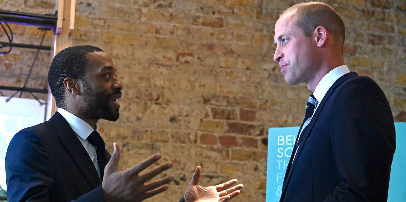 The Duke of Cambridge with actor Chiwetel Ejiofor at BAFTA Piccadilly.