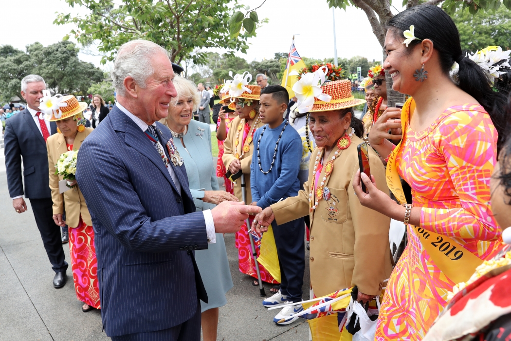 The Prince of Wales and The Duchess of Cornwall meet well wishers in Auckland