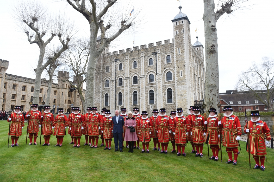 The Prince of Wales and The Duchess of Cornwall with Yeoman Warders
