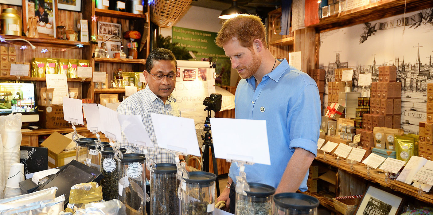 Prince Harry visits Borough Market after it re-opens