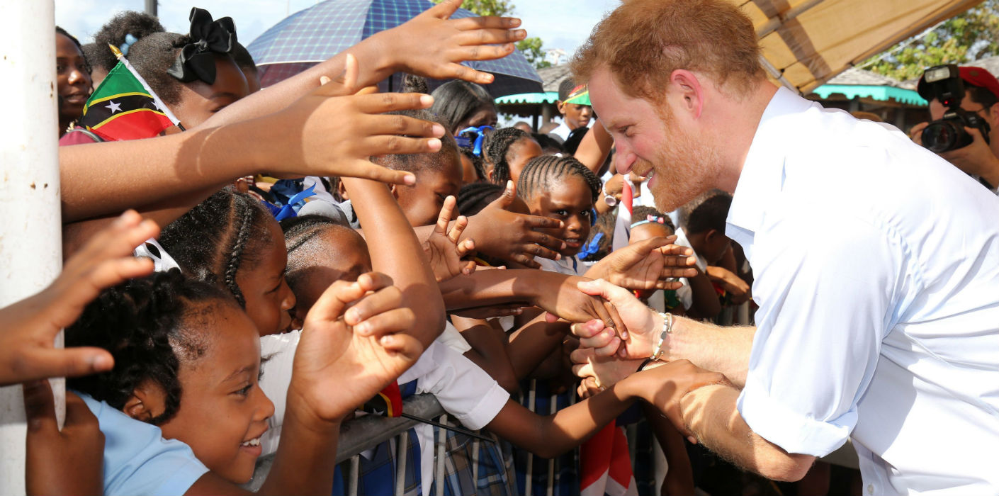 Prince Harry visits St Kitts and Nevis