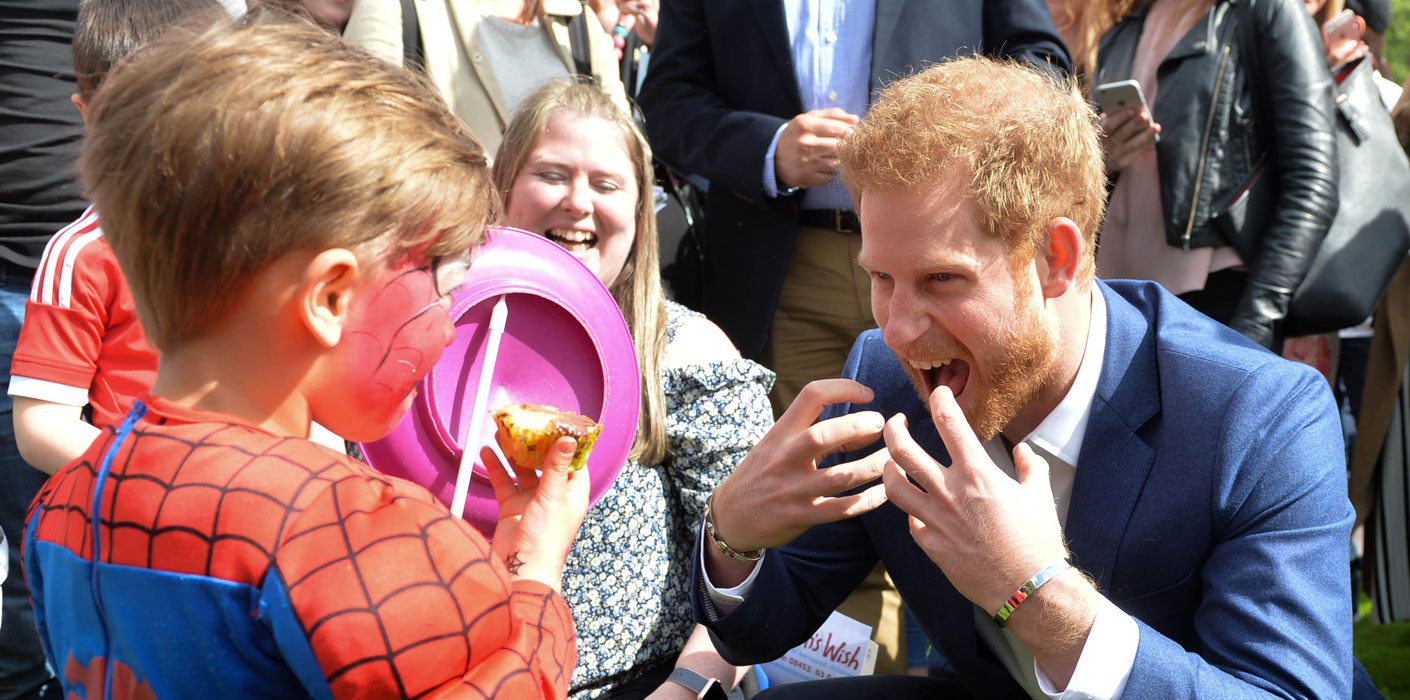 Prince Harry meets children at Party at The Palace, 13 May 2017