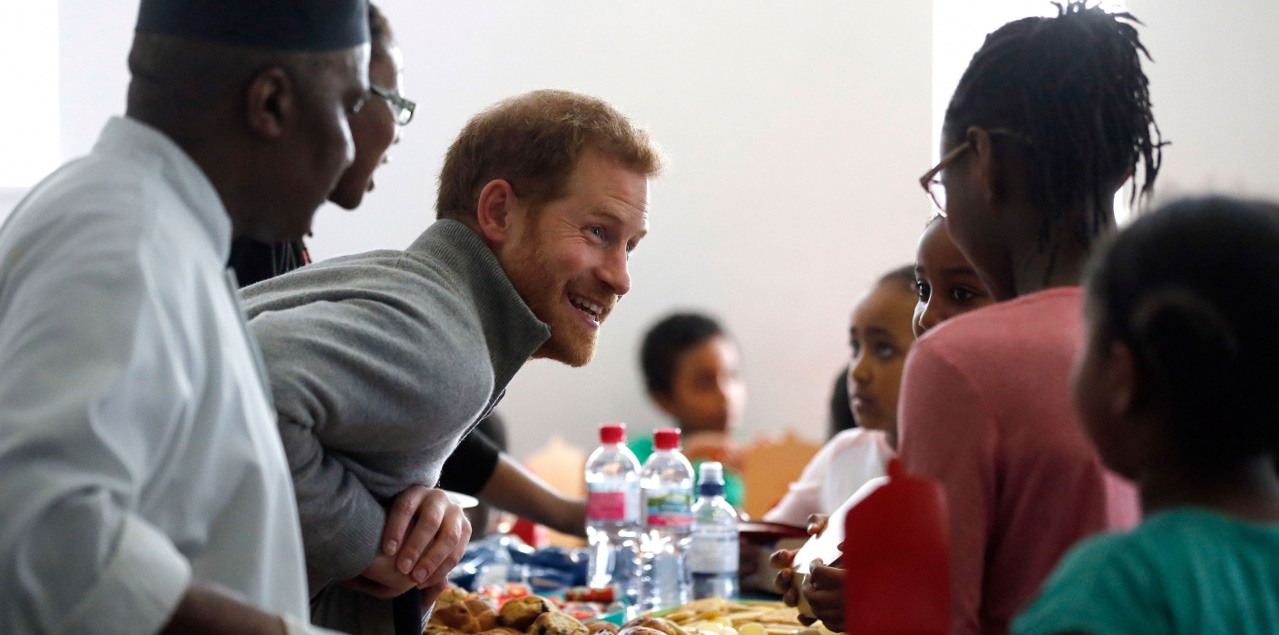 Prince Harry at Fit and Fed