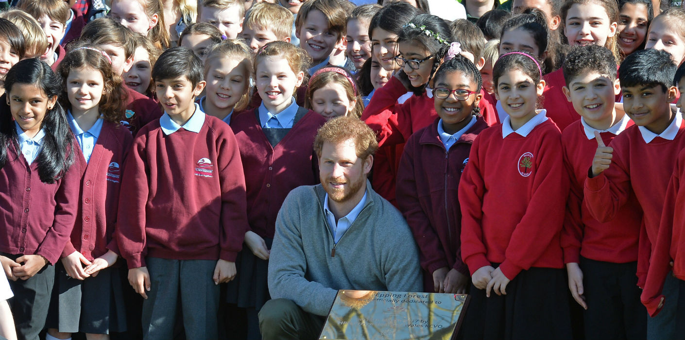 Prince Harry visits Epping Forest Queen's Commonwealth Canopy Project