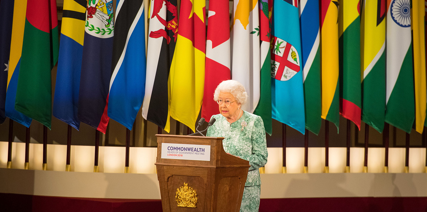 The Queen at the Heads of Government meeting