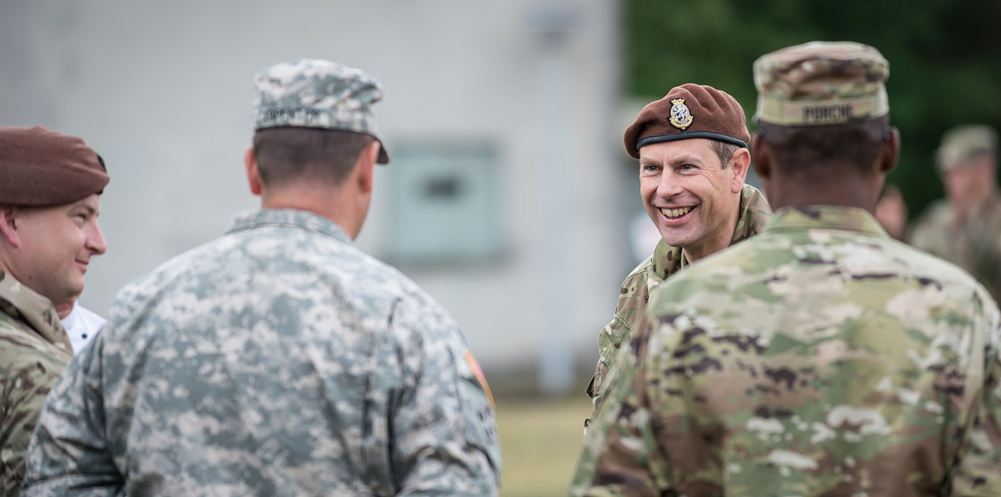 The Earl of Wessex visits army training Germany