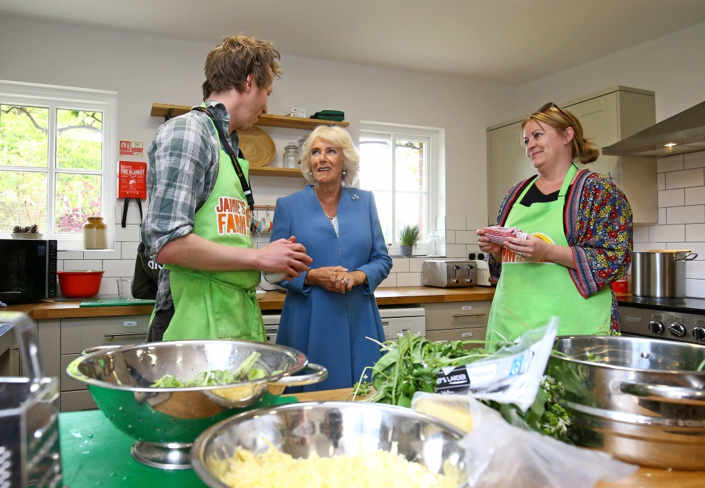 The Duchess of Cornwall visits Jamie's Farm