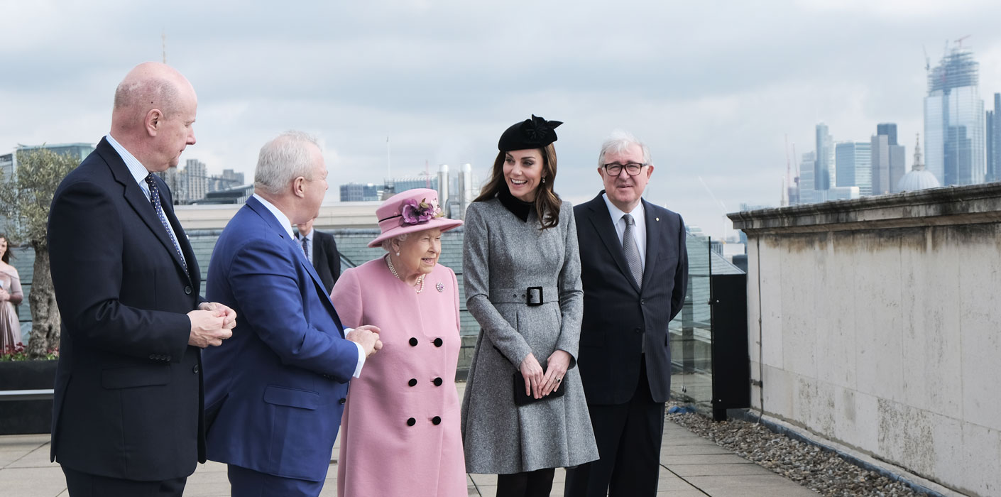 The Queen, accompanied by The Duchess of Cambridge, open KCL's Bush House