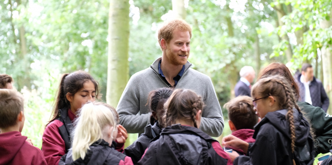 Prince Harry visits the Wilderness Foundation Chatham Green Project