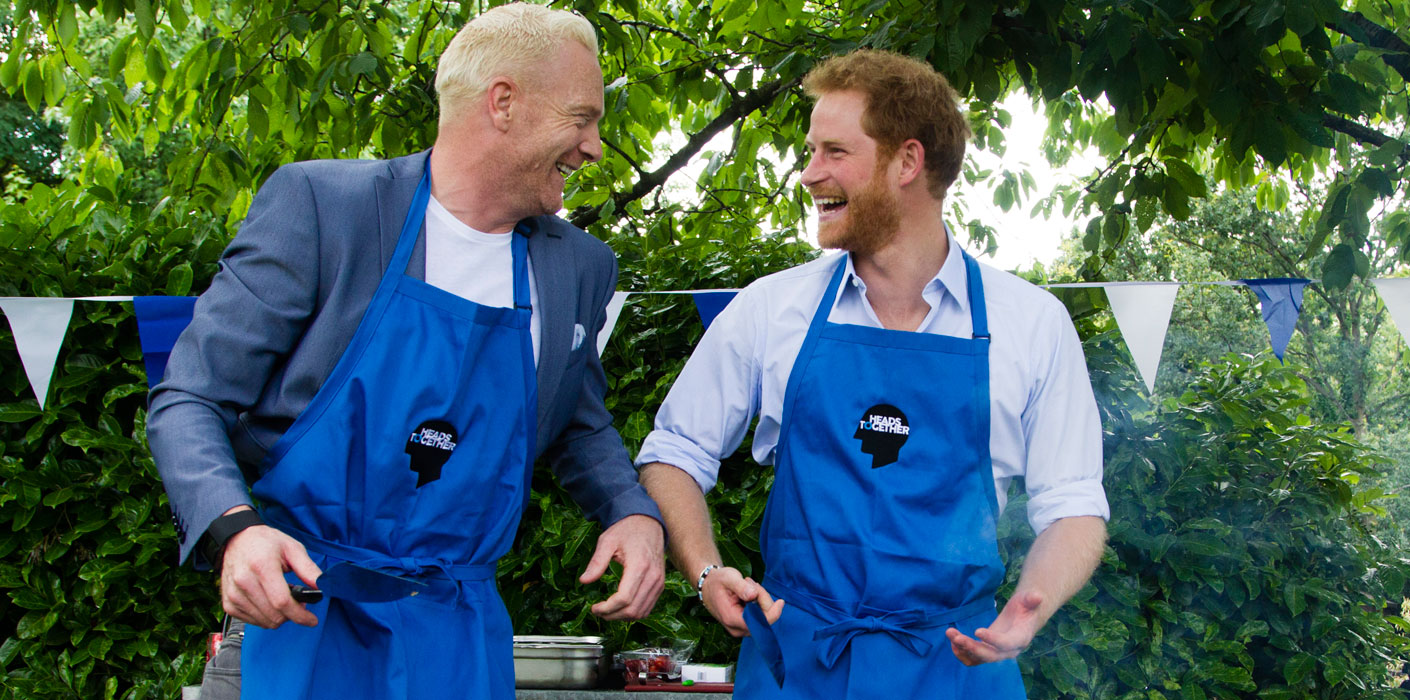 Prince Harry hosts Heads Together BBQ with sports stars and those who have supported them through tough times.