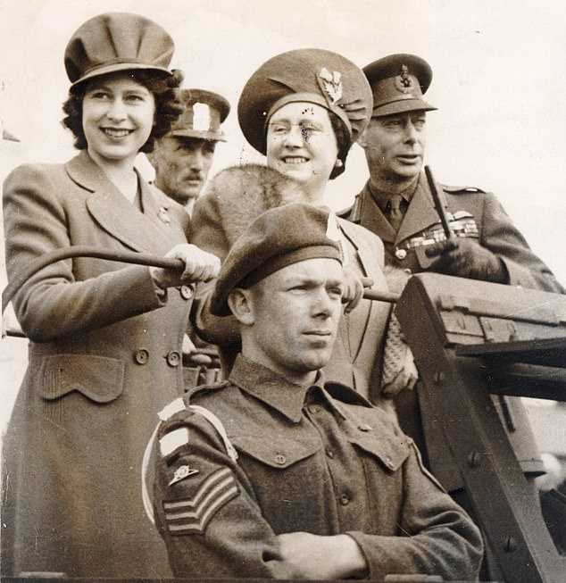 King George VI inspects troops