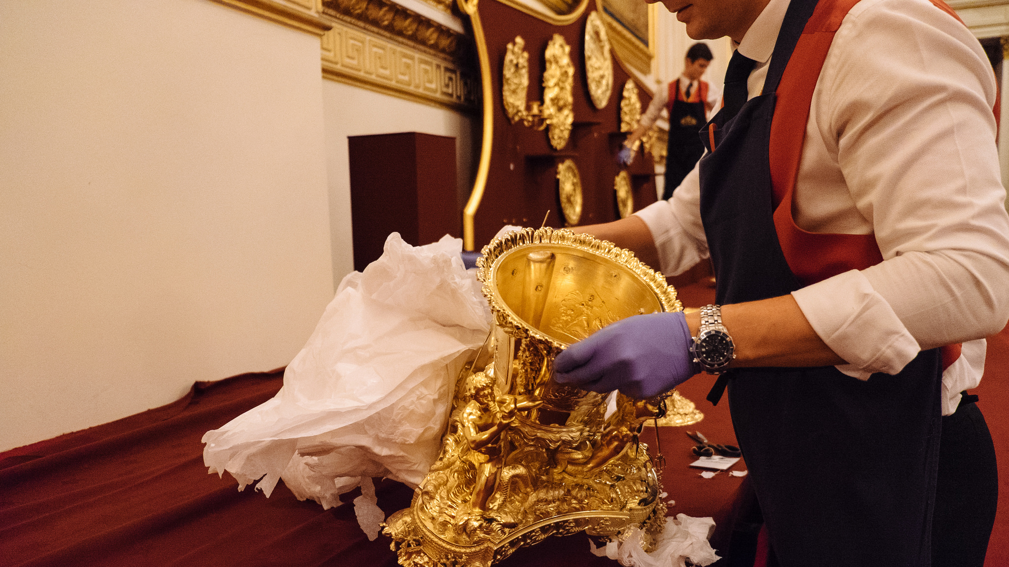 Setting Up A State Banquet At Buckingham Palace The