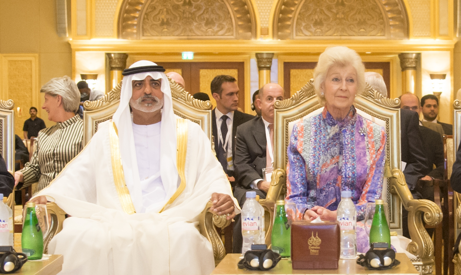 Princess Alexandra with Sheikh Nahyan, UAE Sightsavers President, Abu Dhabi, 2014