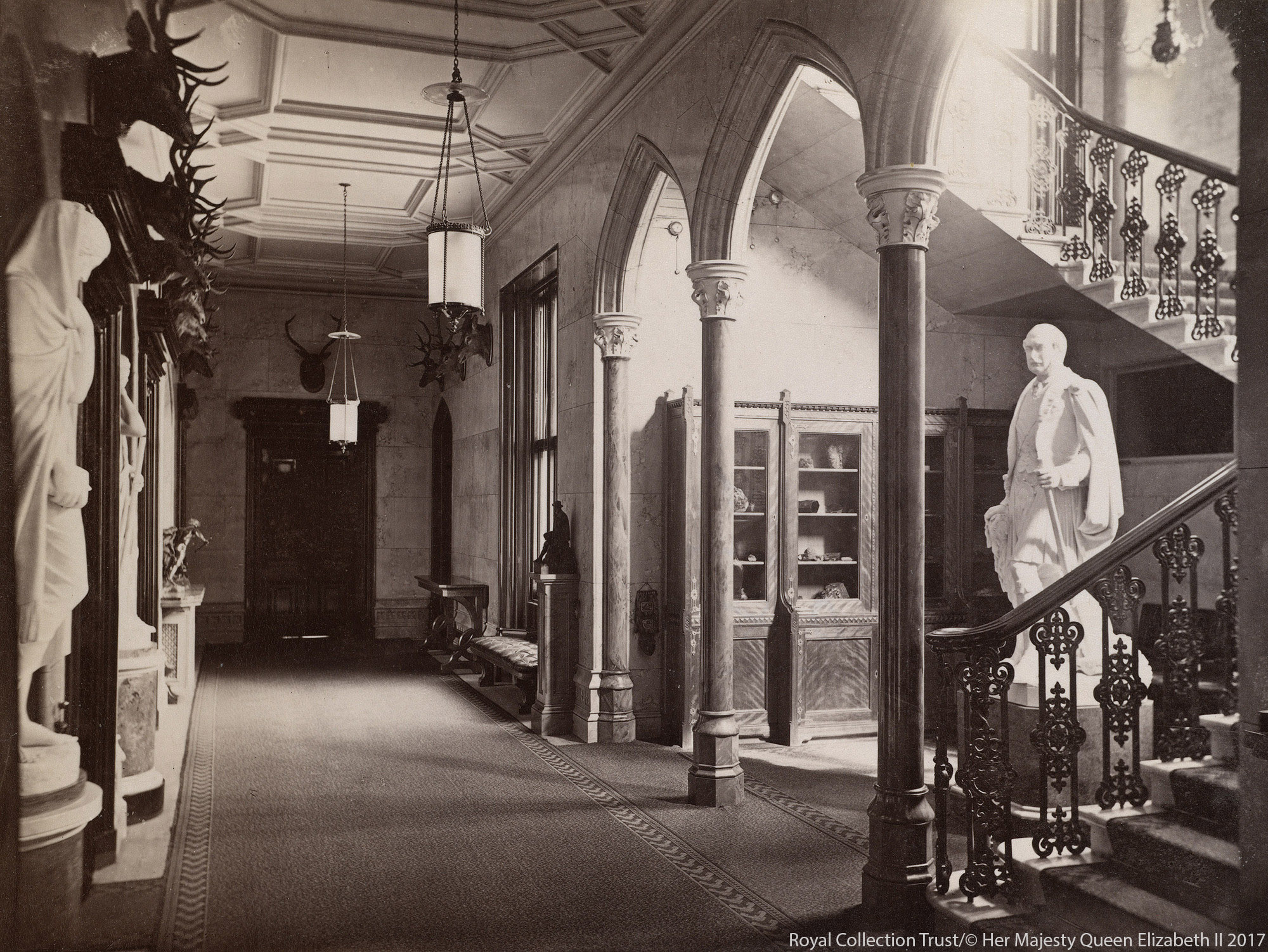 The interior of Balmoral Castle