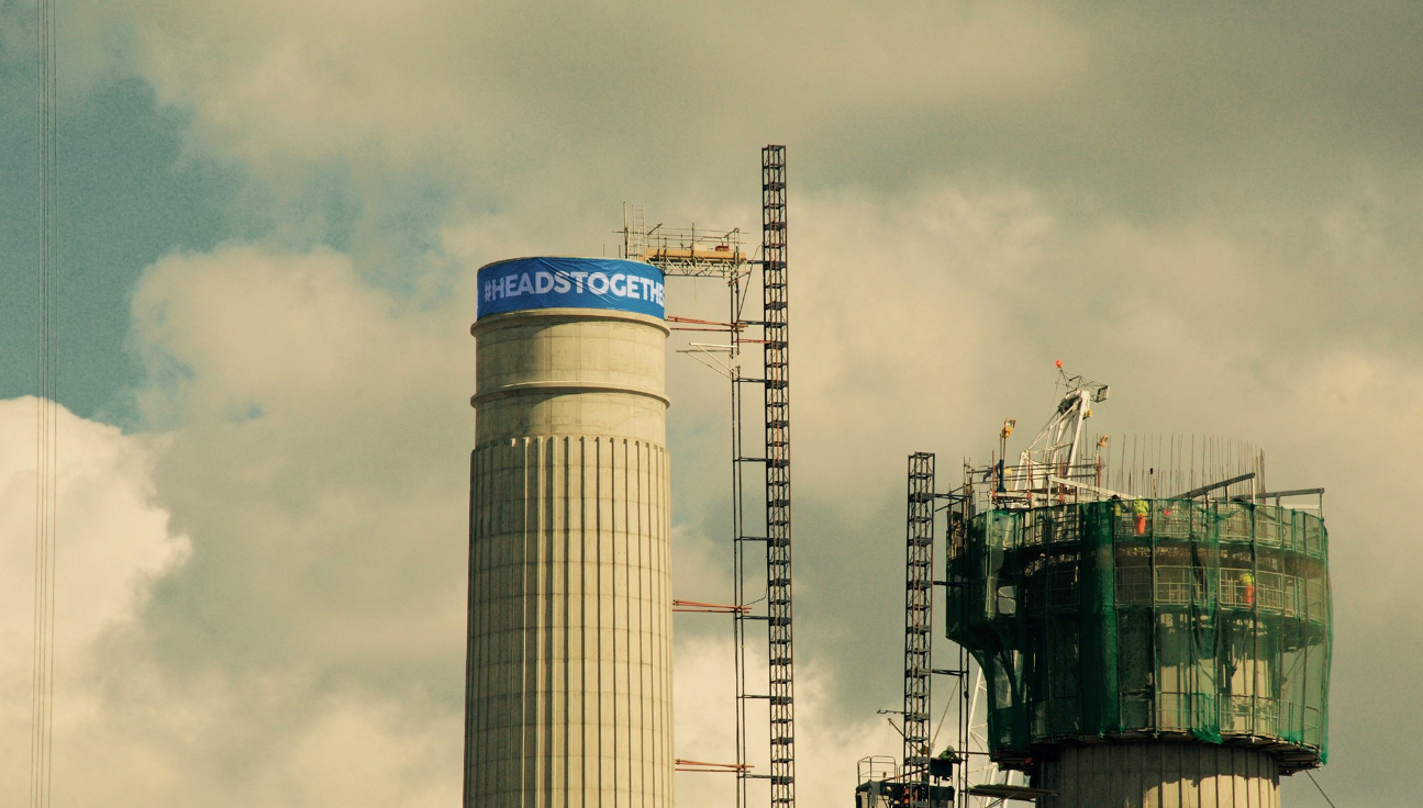 Battersea Power Station wears a Heads Together headband