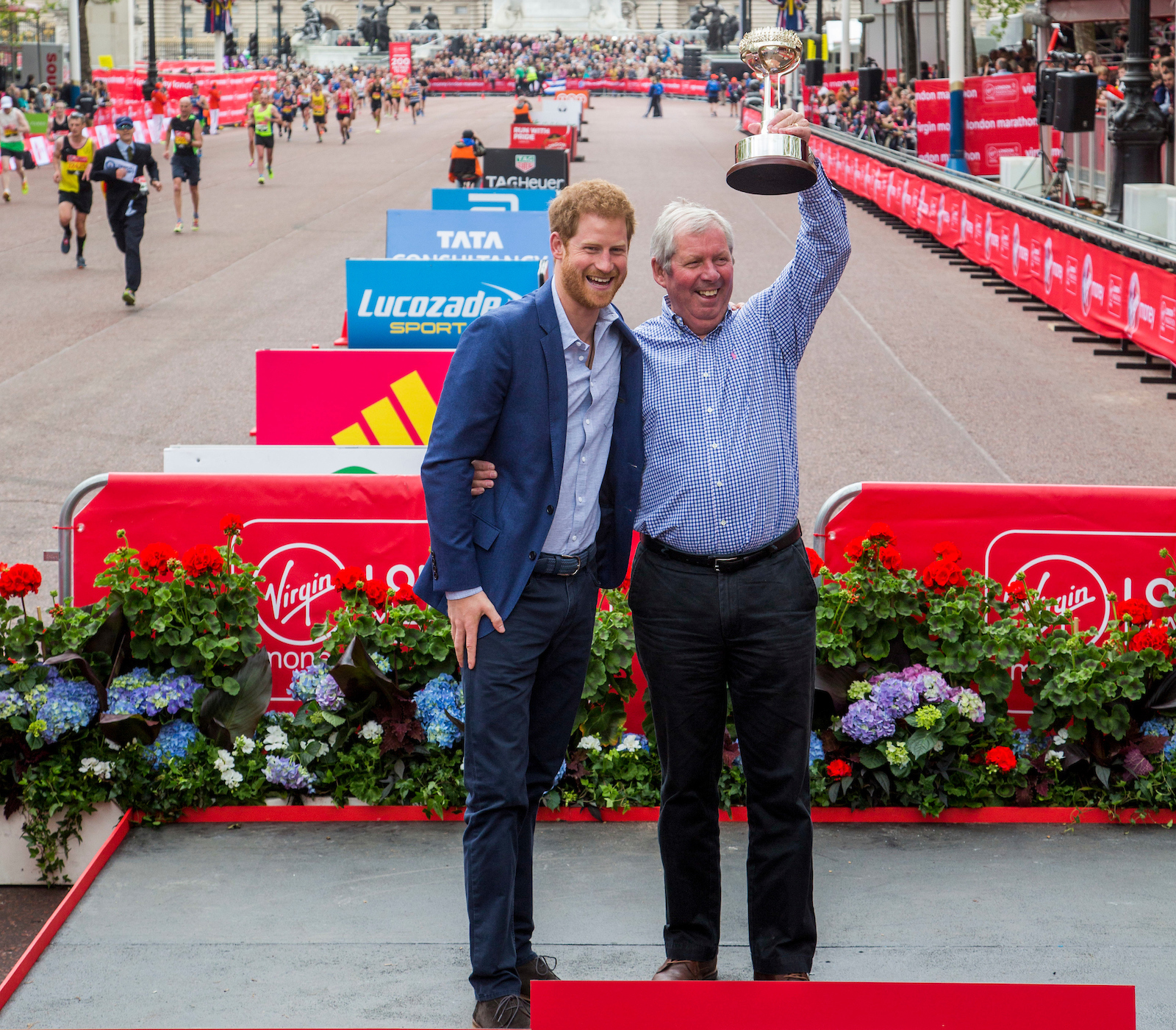 Prince Harry presents Brendan Foster with a Lifetime Achievement Award