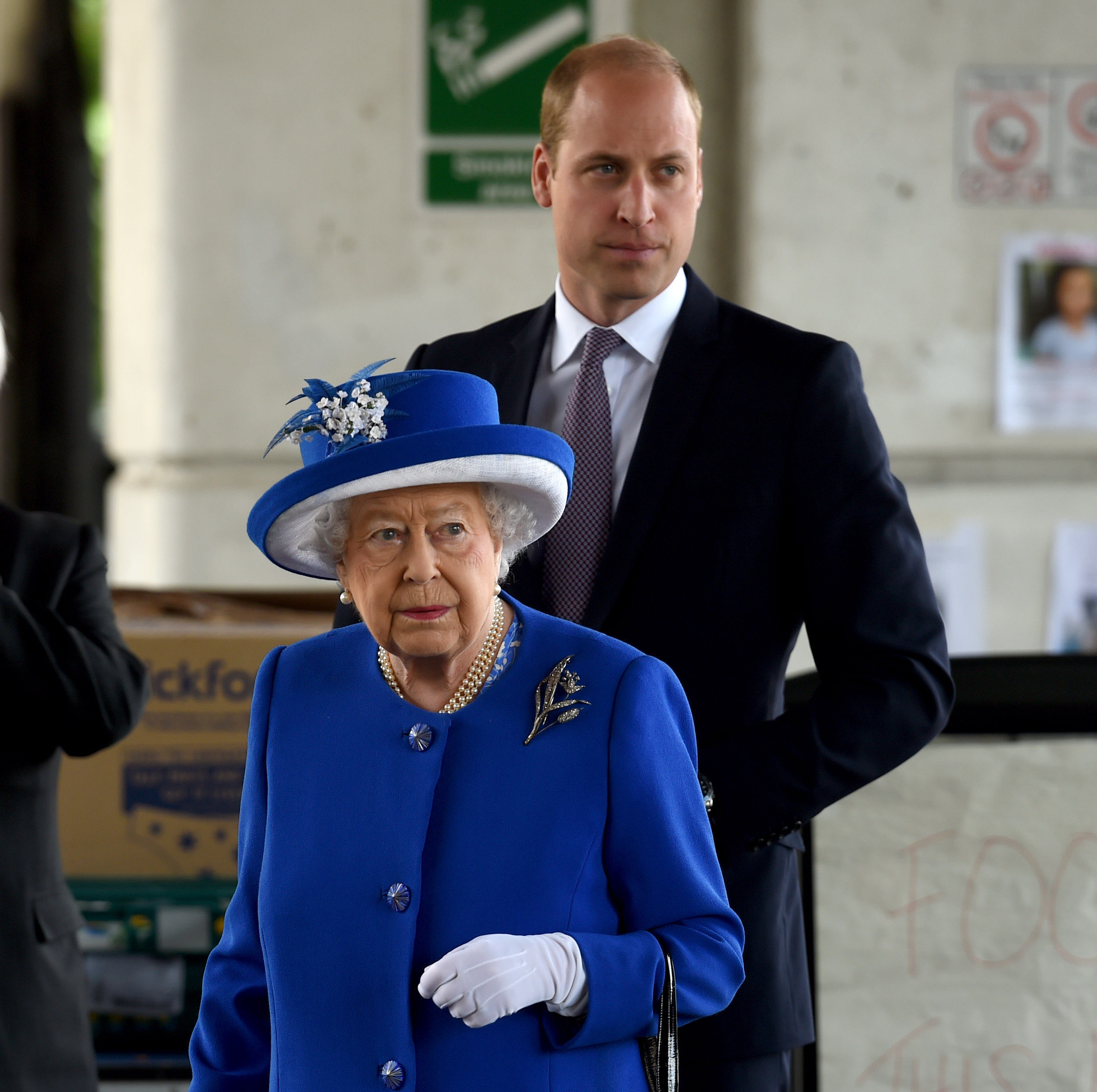 The Queen and The Duke of Cambridge visit those affected by Grenfell Tower