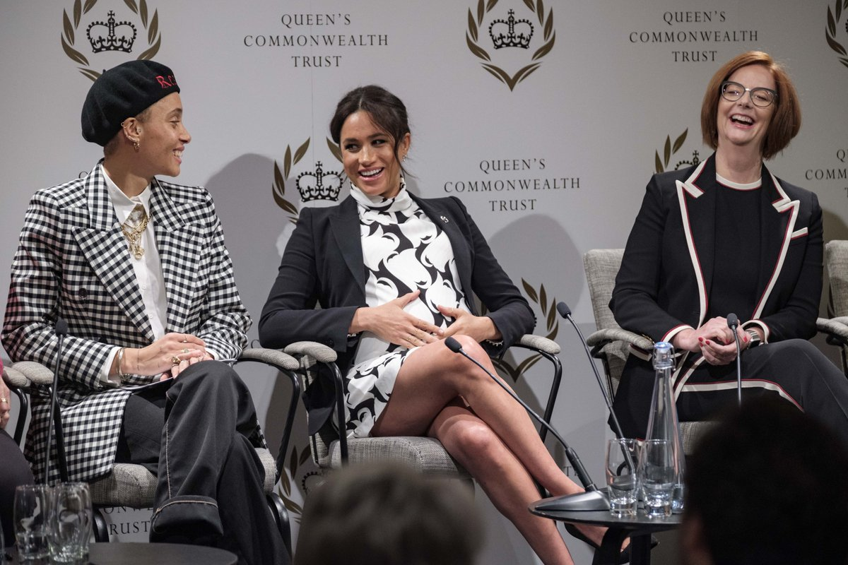 The Duchess Sussex joins an International Women's Day panel discussion