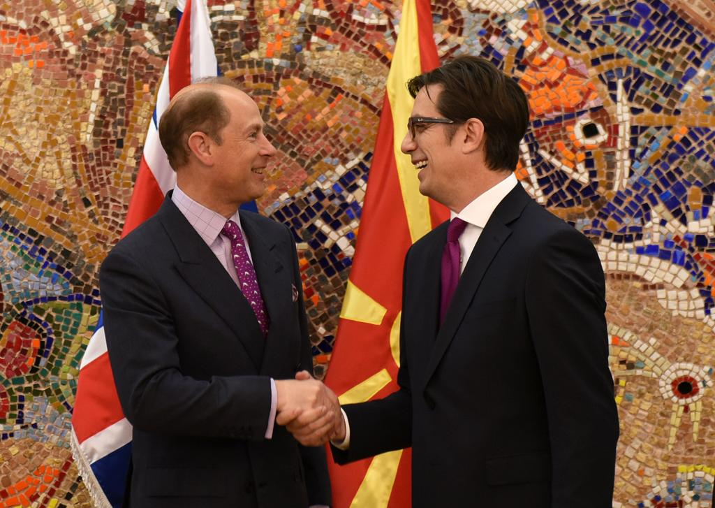 The Earl of Wessex visits North Macedonia