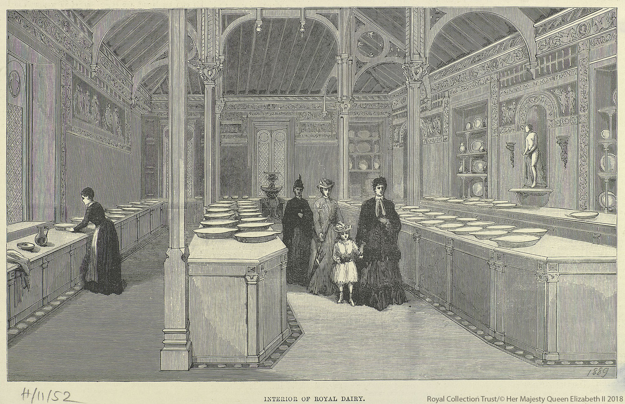The interior of the Royal Dairy