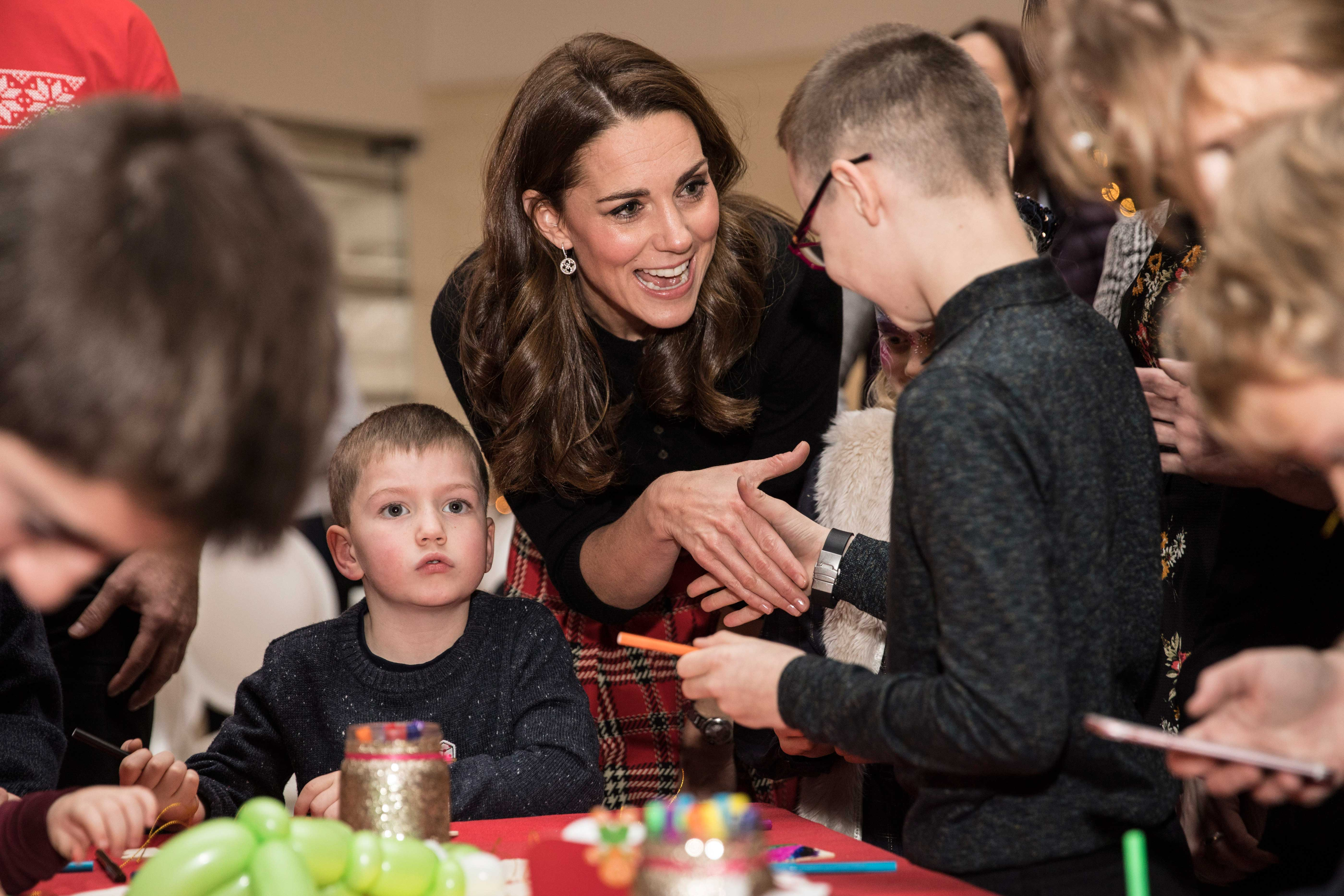 The Duke and Duchess of Cambridge host a Christmas reception for families of military personnel