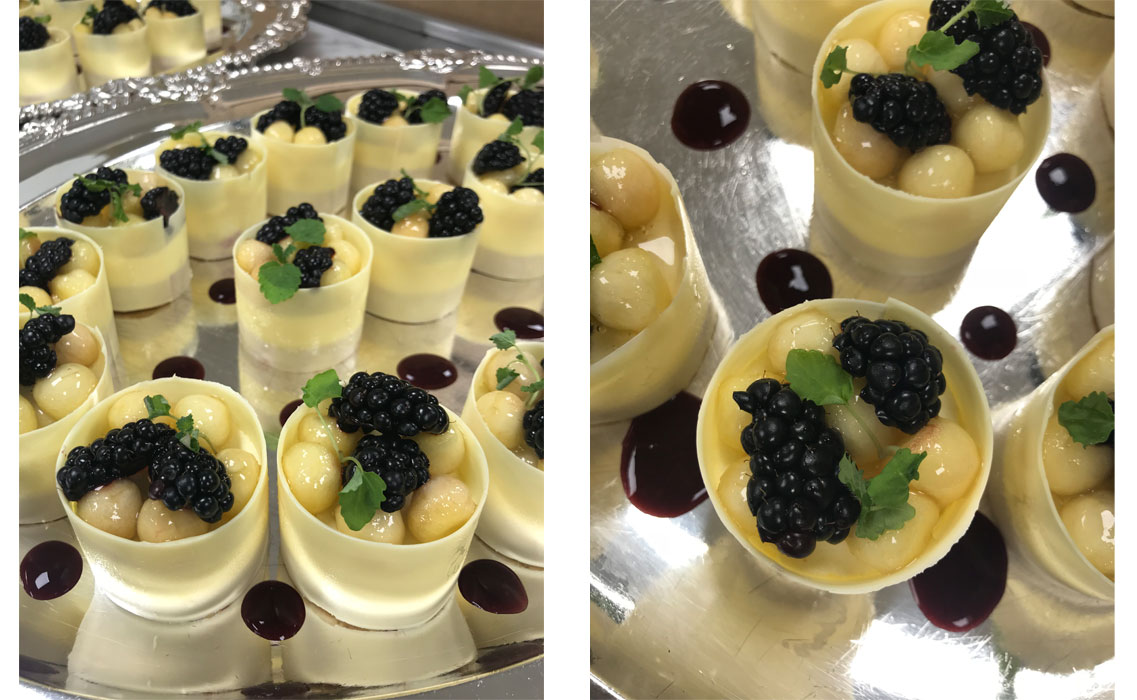 desserts for state visit Netherlands lunch