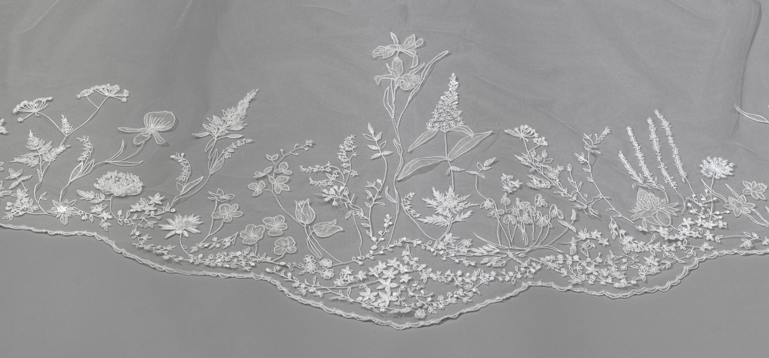 Detail of the Wedding Veil of The Duchess of Sussex