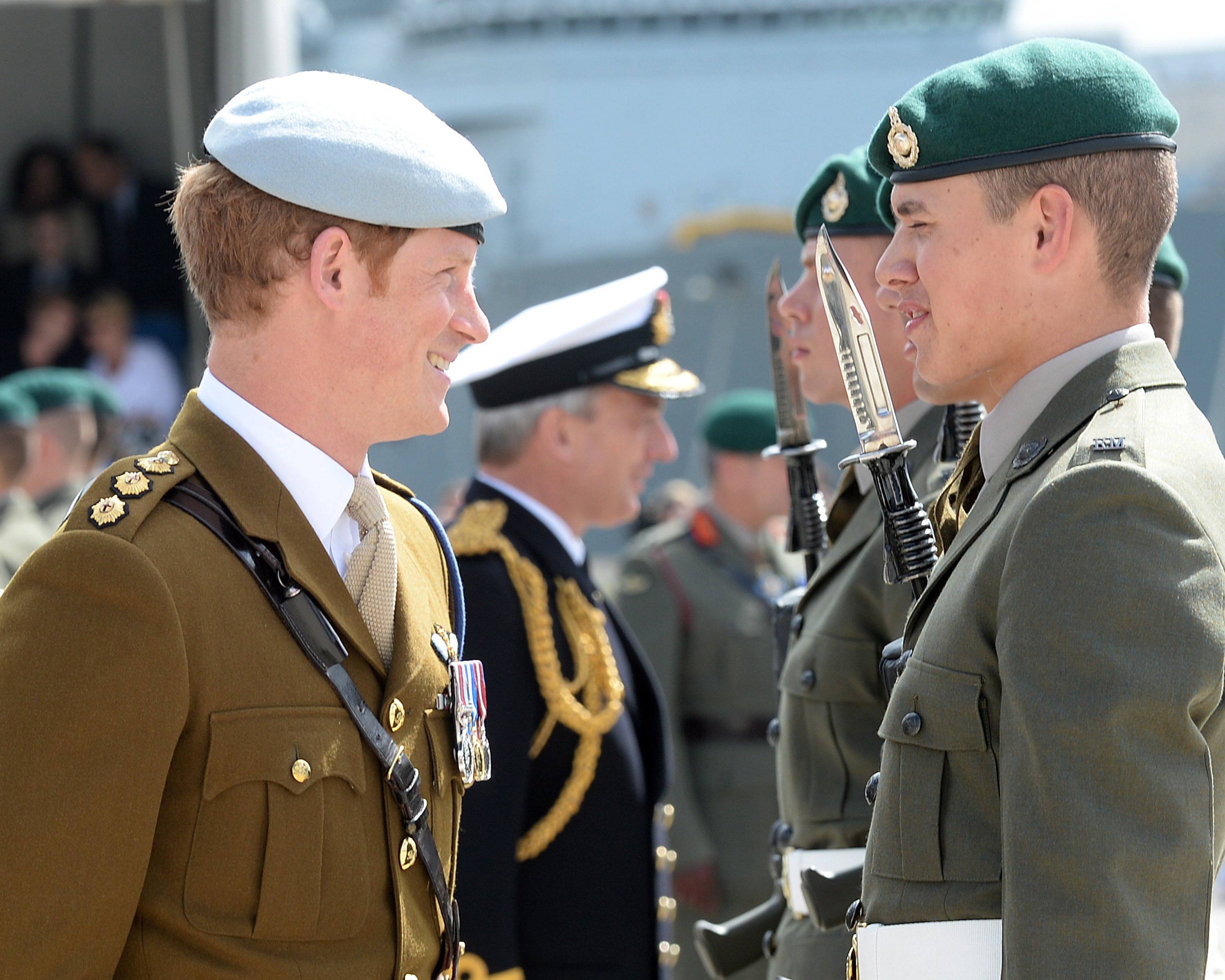 Prince Harry opening the Royal Navy's amphibious excellence in Plymouth