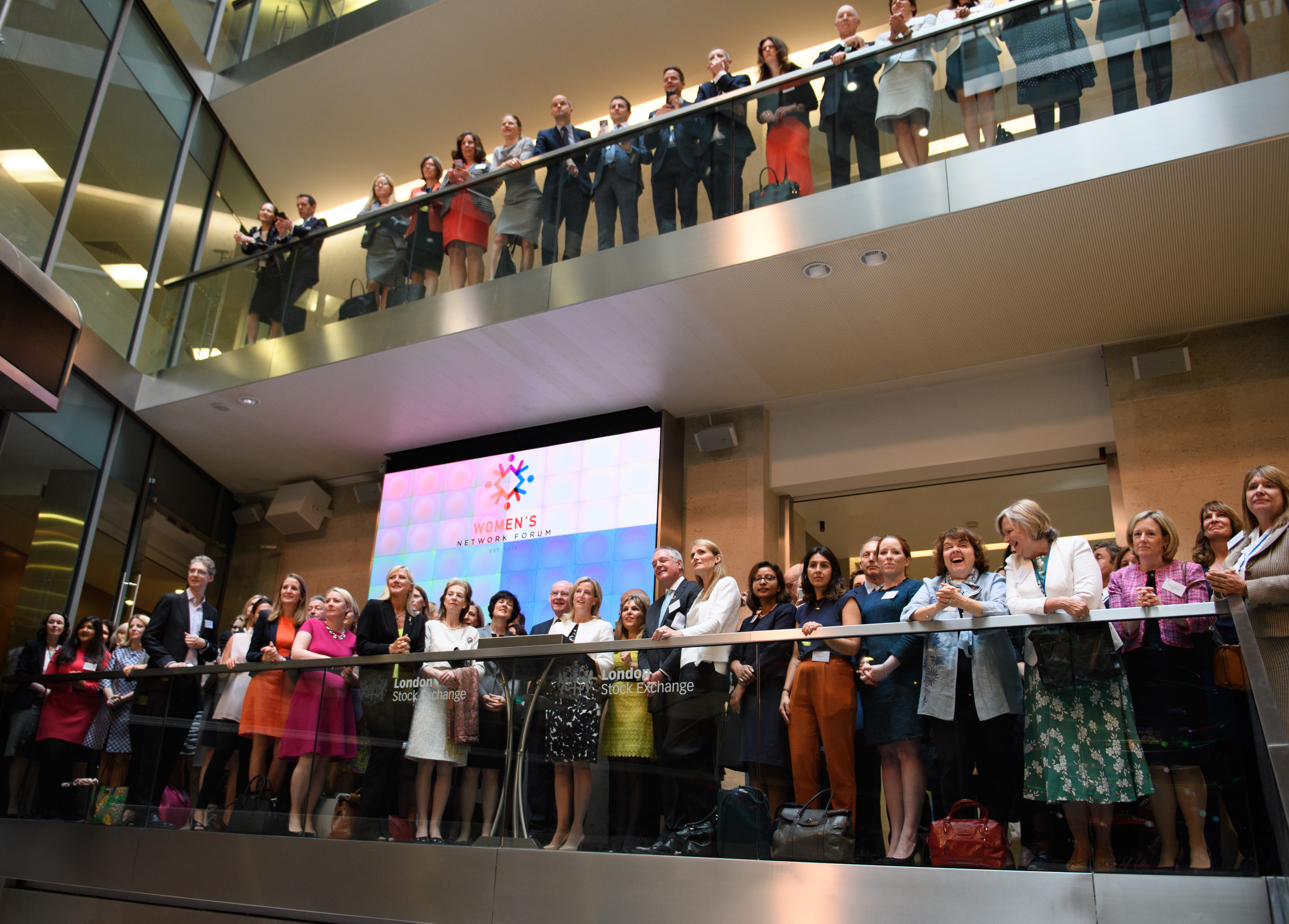 The Countess of Wessex opens the London Stock Exchange as part of the Women's Network Forum