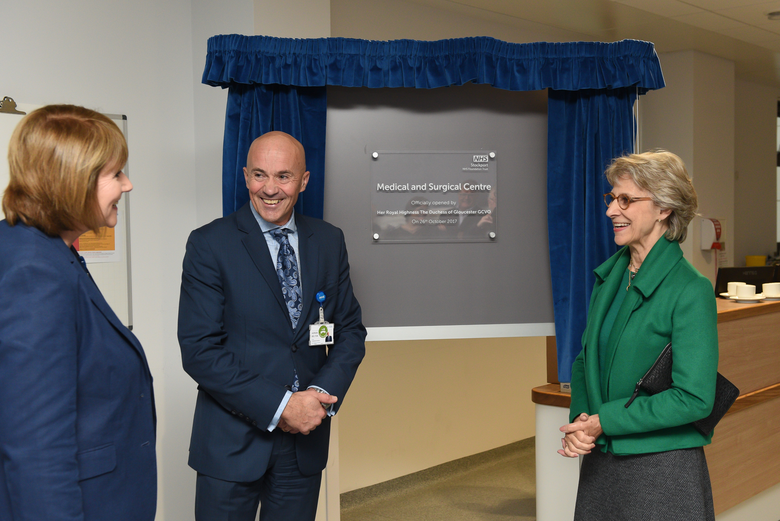 The Duchess of Gloucester visits Stepping Hill Hospital